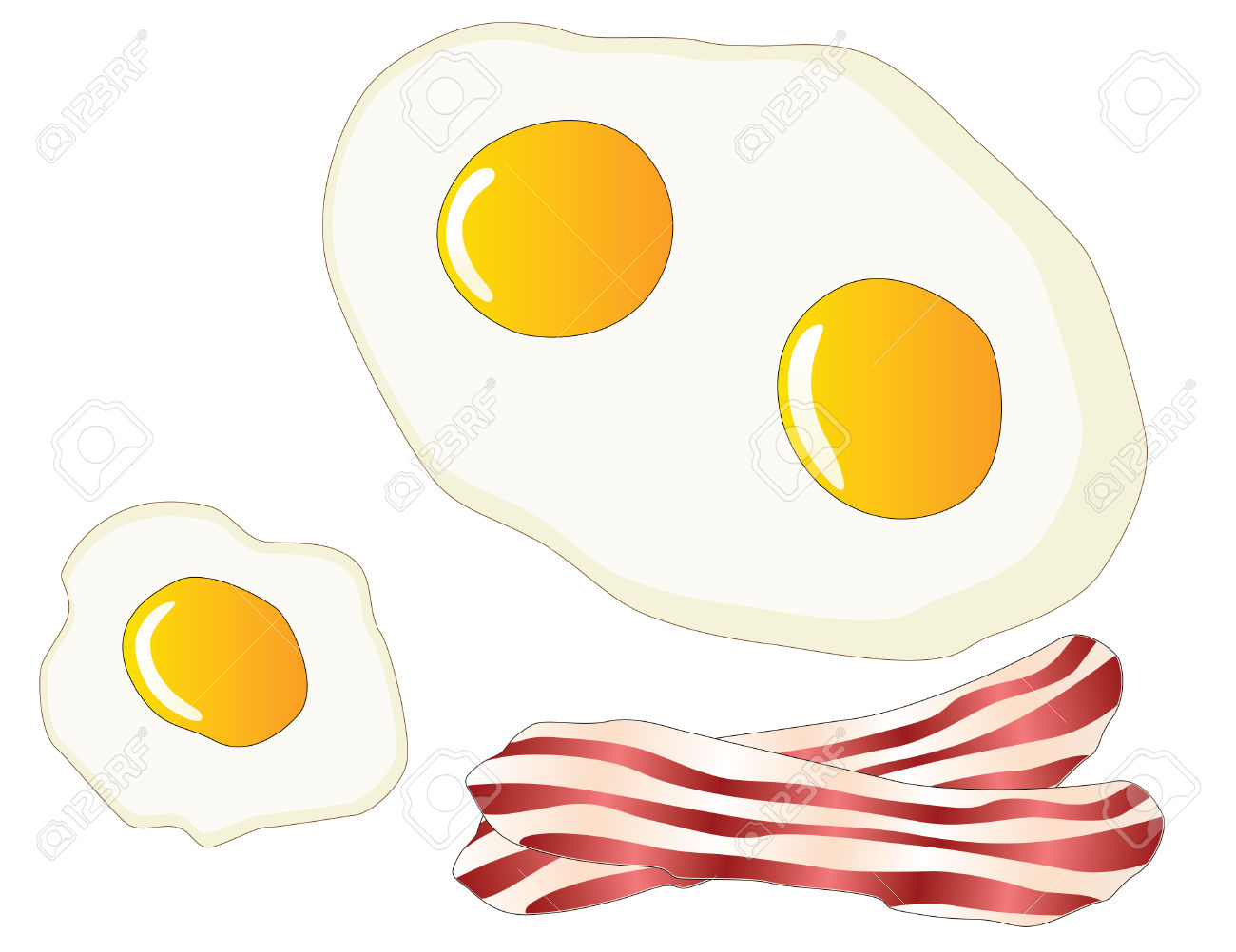 Bacon and eggs border clipart png library library Fried Egg Clipart | Free download best Fried Egg Clipart on ... png library library