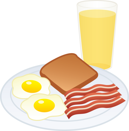 Bacon and eggs border clipart graphic royalty free download Eggs Bacon Toast and Juice - Free Clip Art | Breakfast | Food clips ... graphic royalty free download