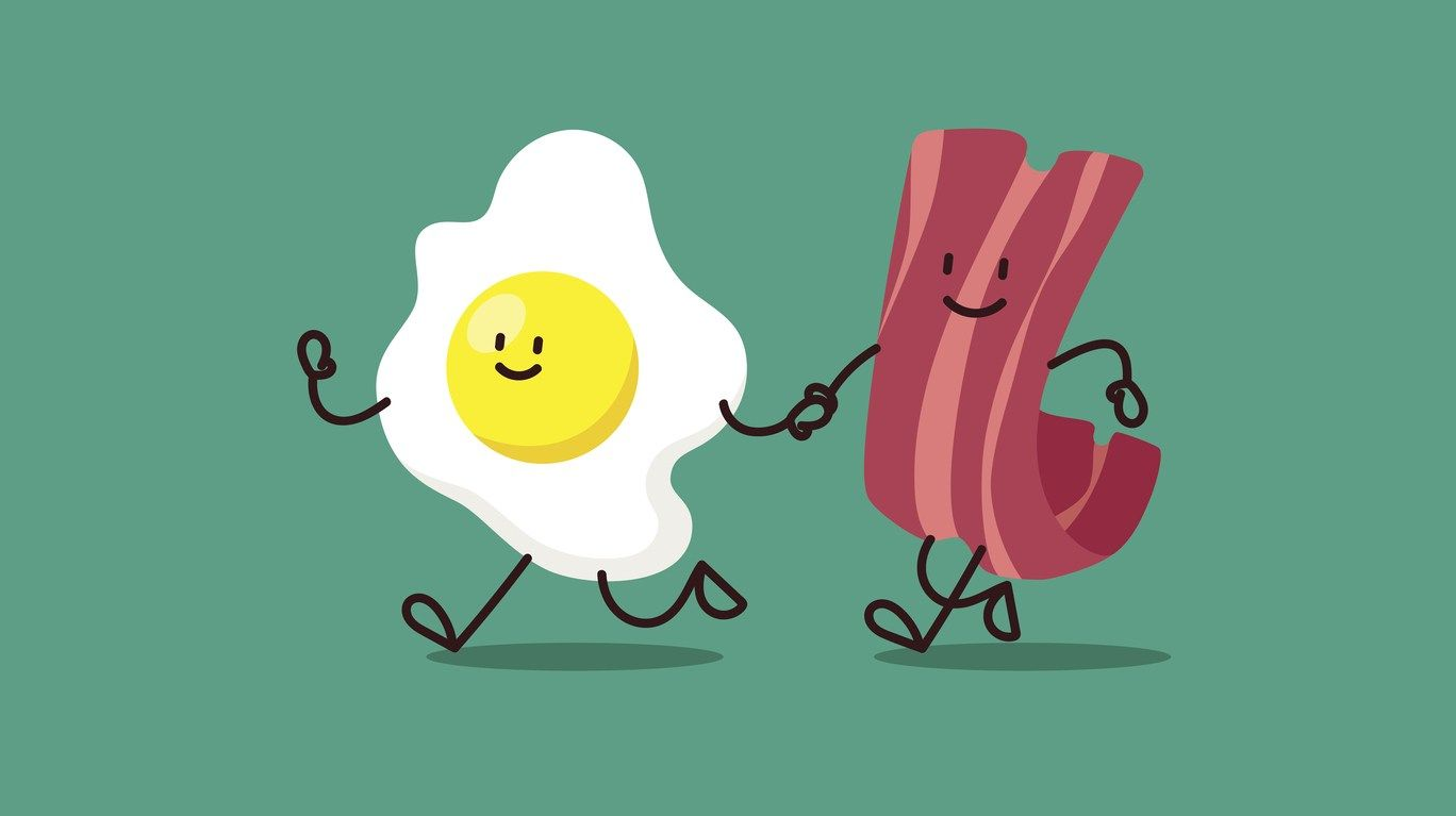 Bacon and eggs friends clipart clip library stock cartoon eggs and bacon are running somewhere.Bacon And Eggs Cartoon ... clip library stock