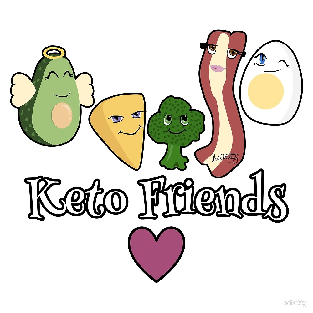 Bacon and eggs friends clipart transparent Keto Friends - Avocado, Cheese, Broccoli, Bacon and Egg\