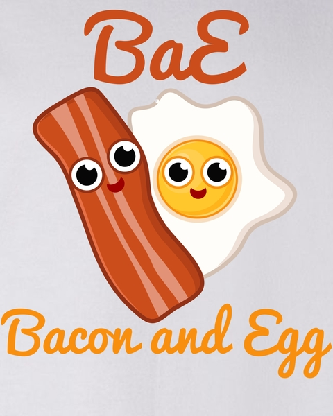 Bacon and eggs friends clipart image freeuse Bae Bacon And Eggs Funny Best Friends Sweater image freeuse