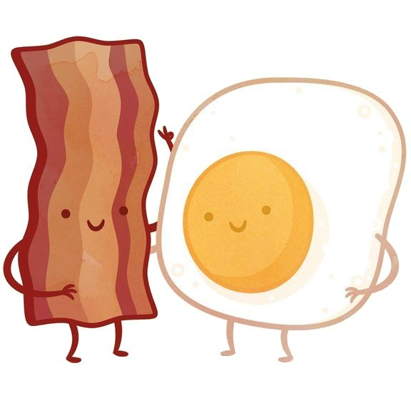 Bacon and eggs friends clipart png free download bacon & eggs | t-shirt transfers | Cute food drawings, Food drawing ... png free download
