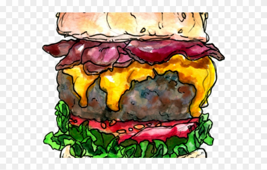 Bacon burger clipart image library library Burger Clipart Bacon Burger - Bacon Cheeseburger Drawings - Png ... image library library