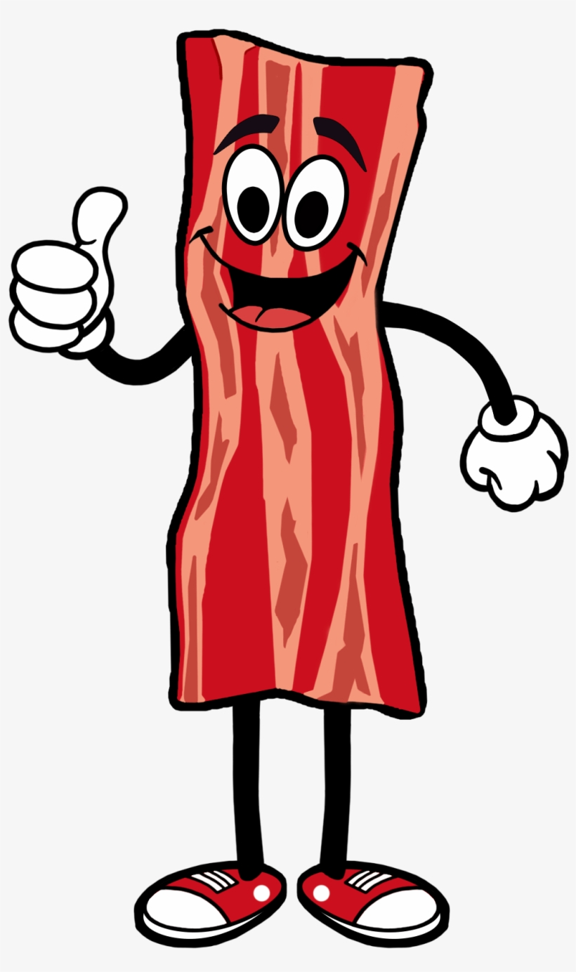 Bacon clipart cartoon png black and white library Illustrated Bacon Man Taller - Bacon Cartoon Transparent PNG ... png black and white library