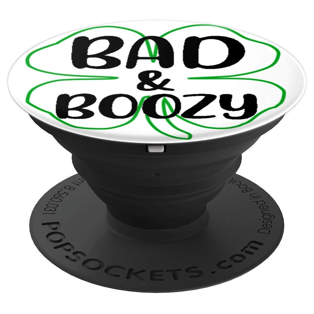 Bad and boozy clipart svg library library Amazon.com: Bad and Boozy T-Shirt Funny St Patrick Day Drinking Gift ... svg library library