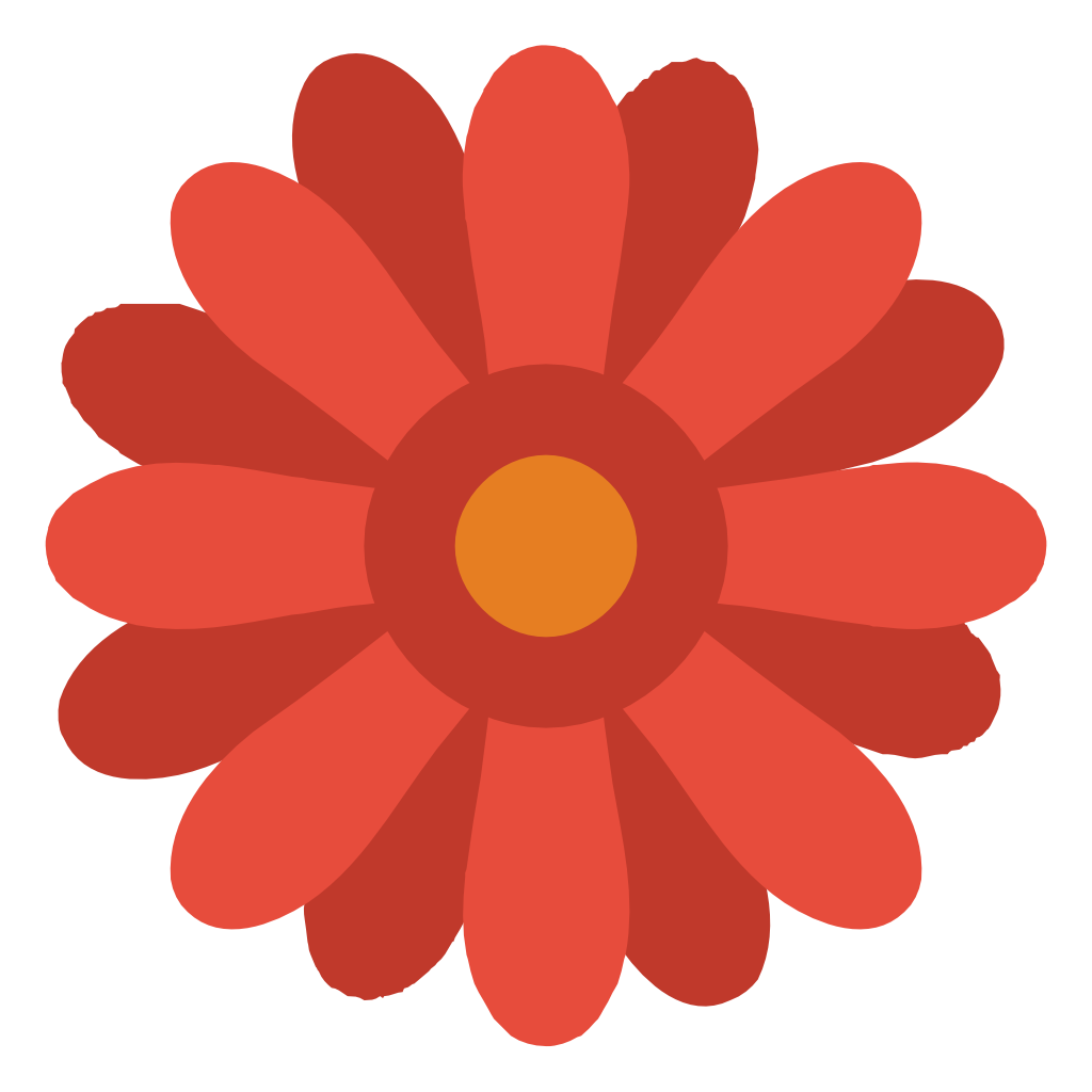Flower icon clipart. Small flat iconset paomedia