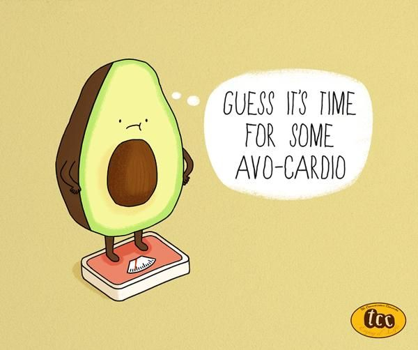 Bad avocado cartoon clipart jpg transparent stock Fun Food Facts Presented with Adorable Cartoons and Puns | What a ... jpg transparent stock