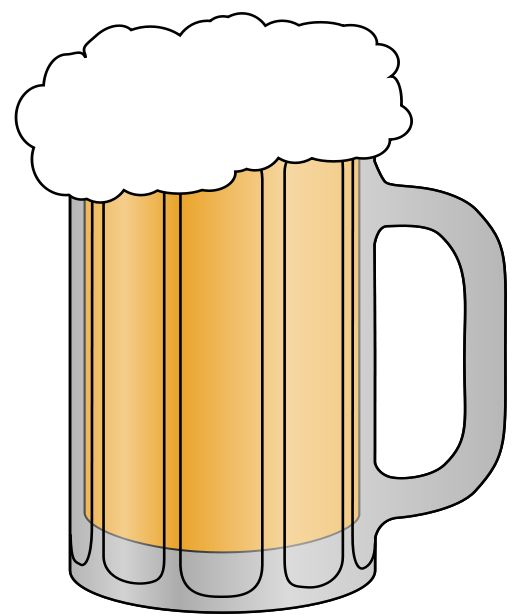 Beer mugs comic clipart free banner black and white Beer Clipart Free | Free download best Beer Clipart Free on ... banner black and white