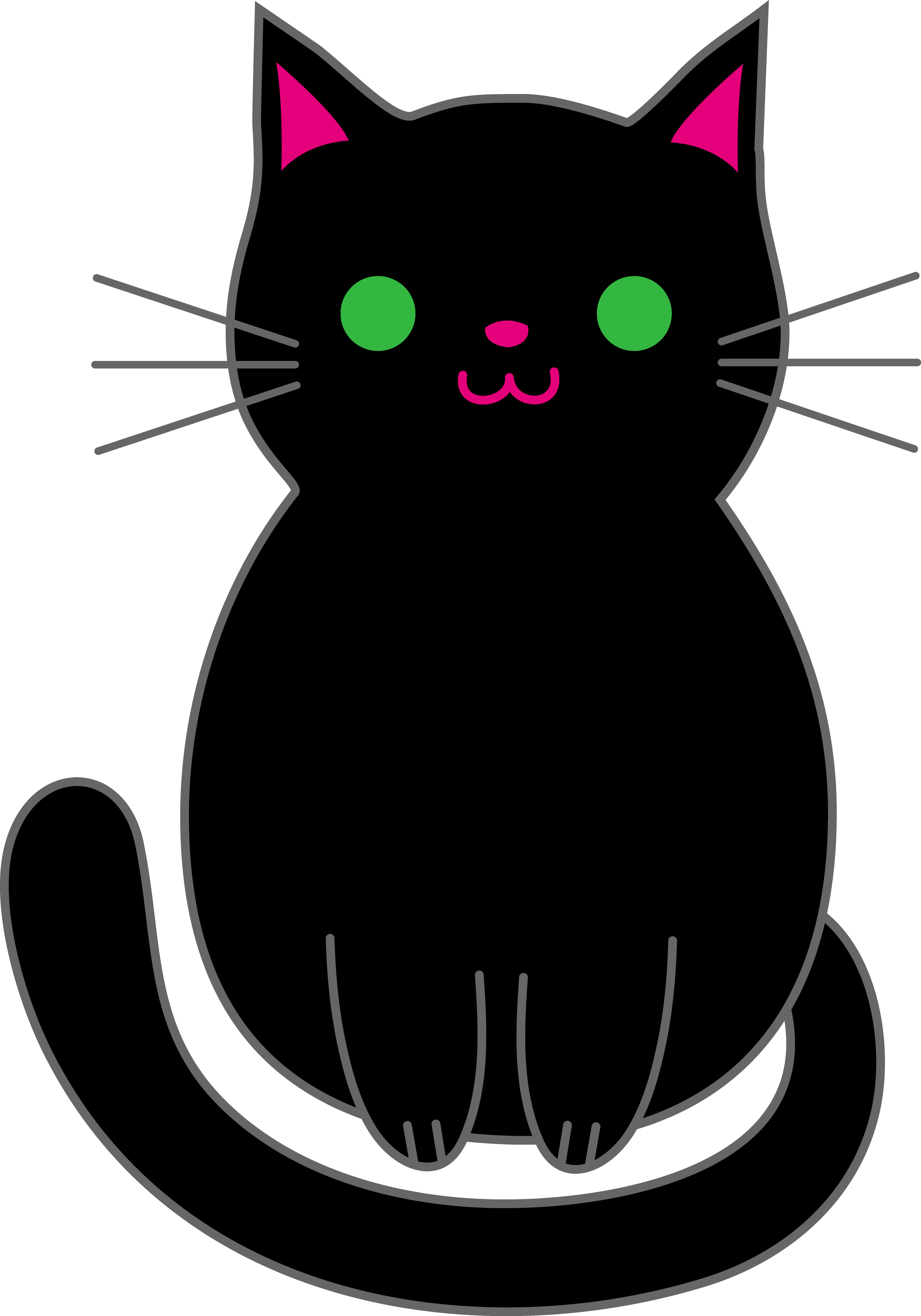 Halloween Black Cat Clipart - Free Clip Art - Clipart Bay svg free stock