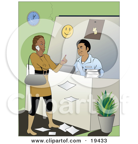 Bad customer service clipart picture library library Clipart Illustration of a Rude Female Customer Talking On Her Cell ... picture library library
