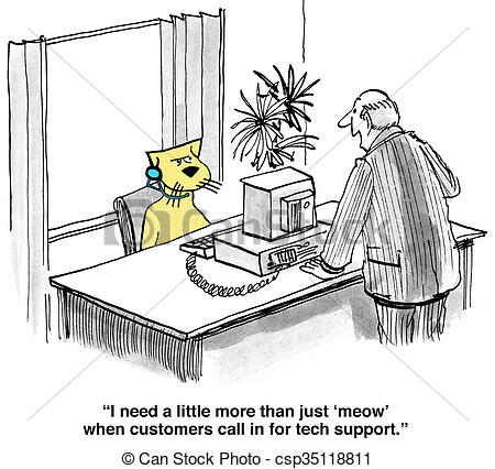 Bad customer service clipart vector free stock Clipart of Poor Customer Service - Business cartoon about bad ... vector free stock