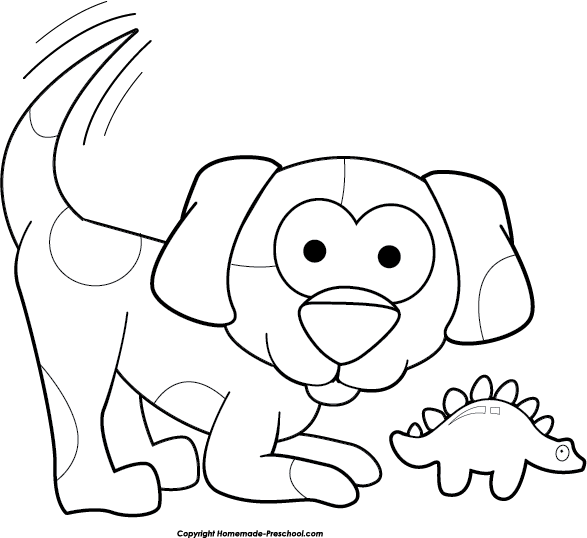 Cute dog clipart free picture black and white download Free Dog Clipart picture black and white download