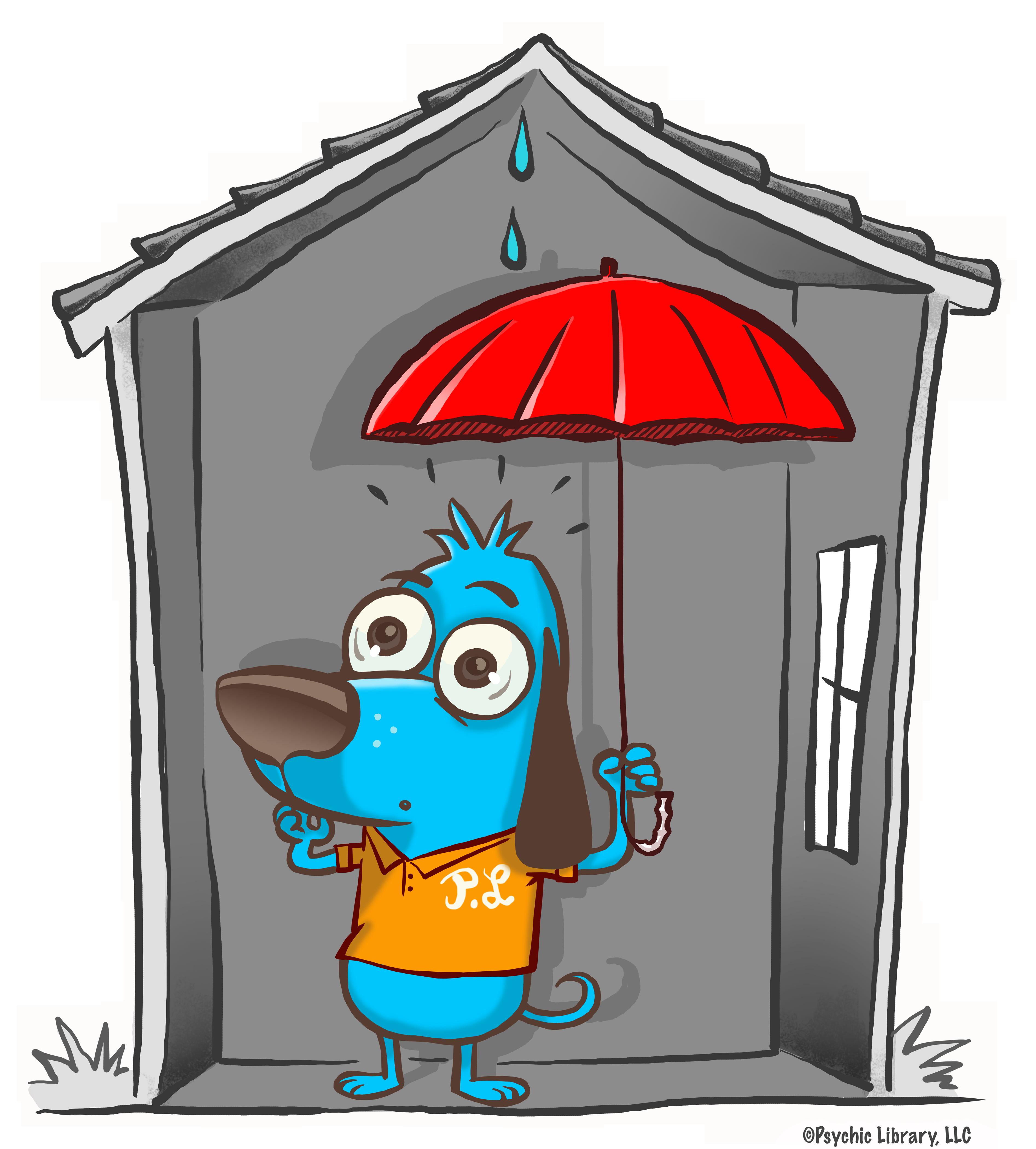Bad dog dog house clipart