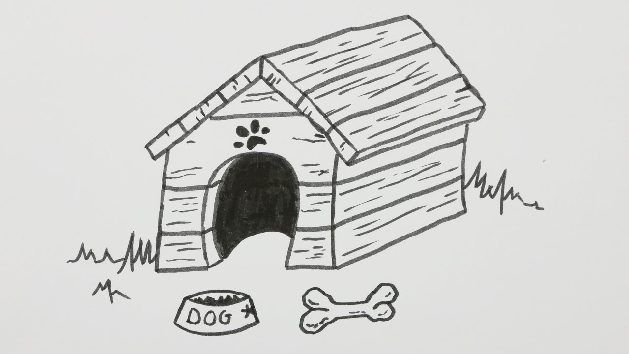 Bad dog dog house clipart png transparent library Dog clipart paintings search result at PaintingValley.com png transparent library