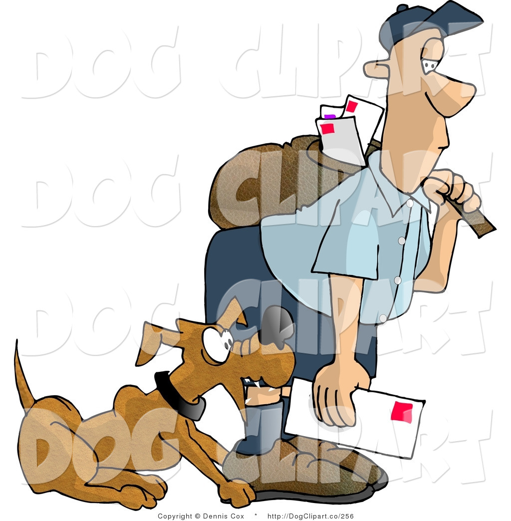 Bad dog free clipart clipart royalty free stock Clip Art of a Bad Dog Nipping the Mailman on the Leg by djart - #256 clipart royalty free stock