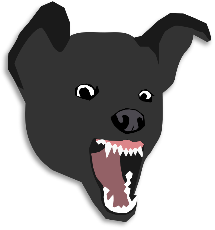 Bad dog free clipart vector library download Free Clipart: Mean Dog | ecuabron vector library download