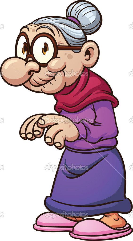 Bad grandma clipart jpg royalty free library Cartoon grandma — Stock Vector © memoangeles #12138288 | aging ... jpg royalty free library