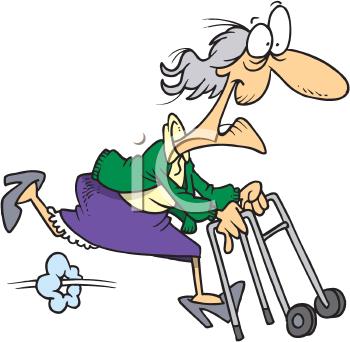 Bad grandma clipart picture black and white stock Grandparents Day Clipart - Grandma Running with her Walker | Am I ... picture black and white stock