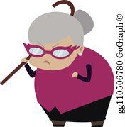 Bad grandma clipart clipart royalty free library Angry Grandma Clip Art - Royalty Free - GoGraph clipart royalty free library