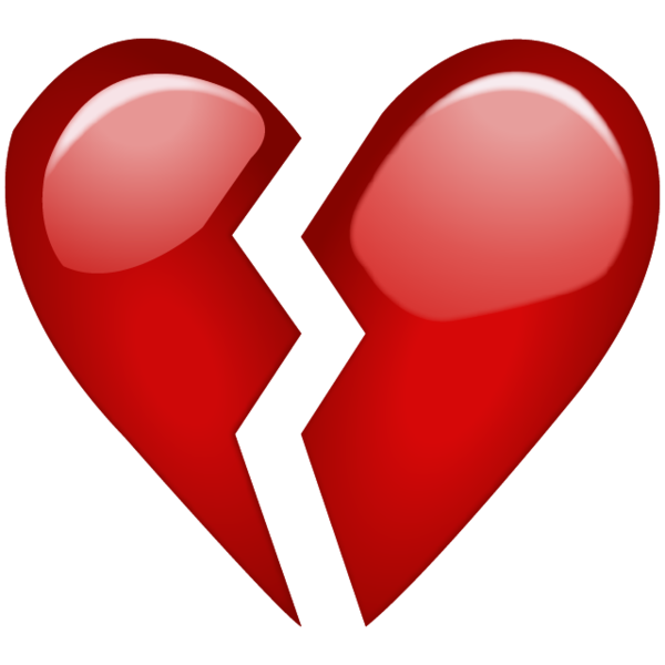 Heart break clipart png Broken Red Heart Emoji PNG. When your heart is broken over something ... png