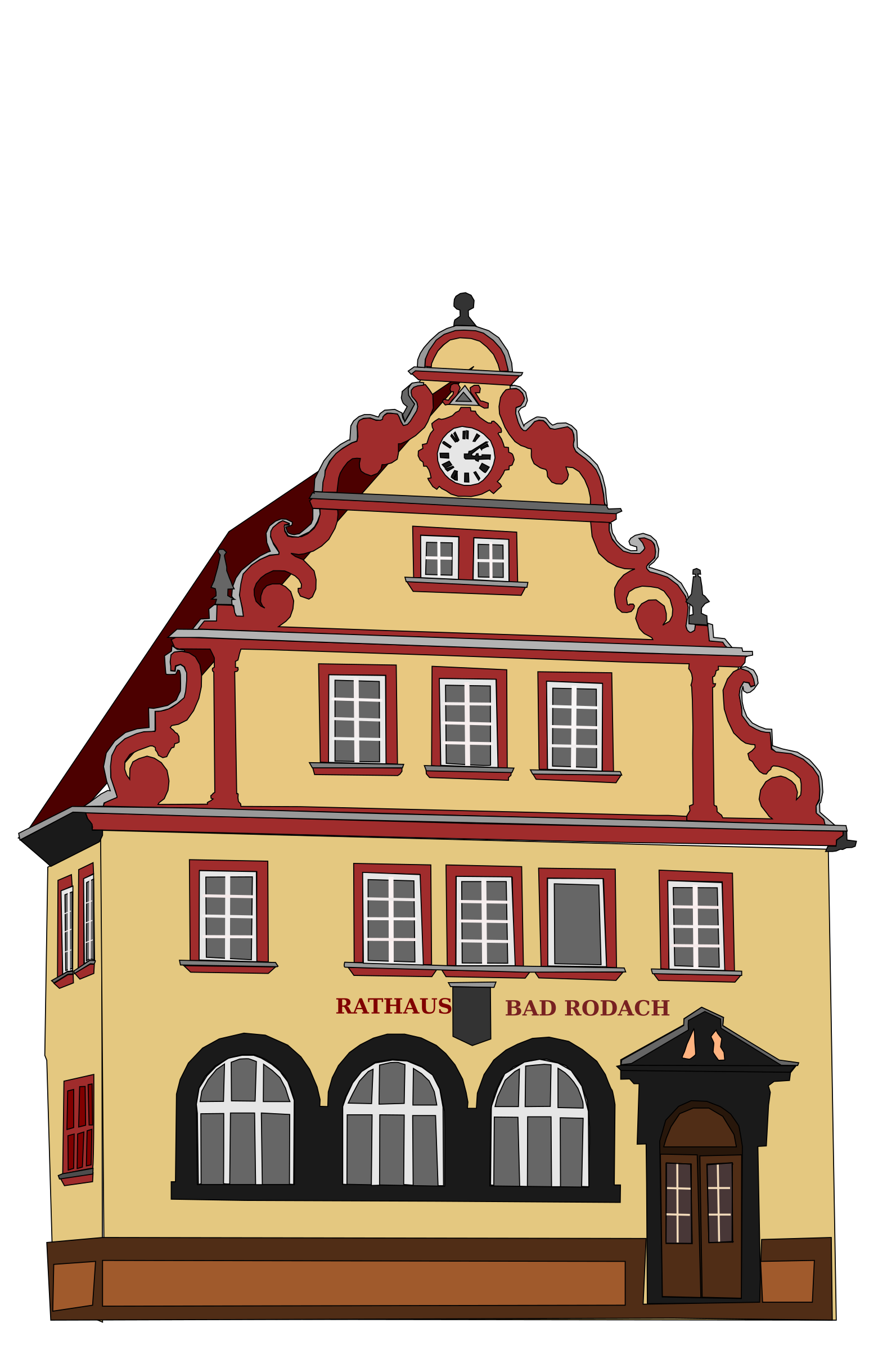 Bad house clipart svg freeuse library Clipart - Town Hall Bad Rodach svg freeuse library