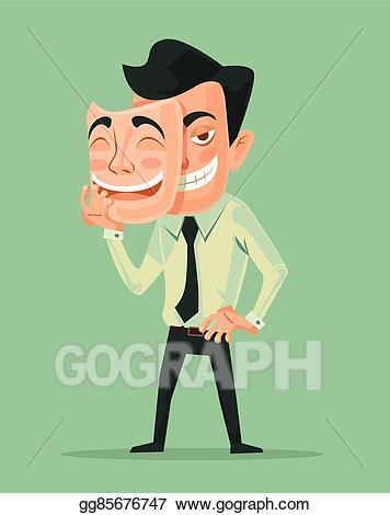 Bad man clipart clip freeuse Vector Illustration - Bad man wear good mask. EPS Clipart gg85676747 ... clip freeuse