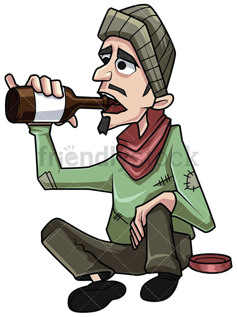 Alcohol clipart illustration clip library download Man In Bad Clothes Clipart & Free Clip Art Images #21990 ... clip library download