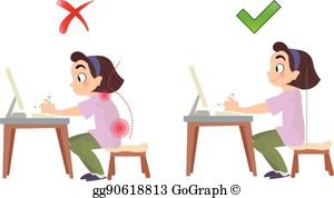 Bad posture clipart graphic freeuse Bad Posture Clip Art - Royalty Free - GoGraph graphic freeuse