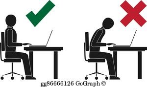 Bad posture clipart royalty free library Bad Posture Clip Art - Royalty Free - GoGraph royalty free library