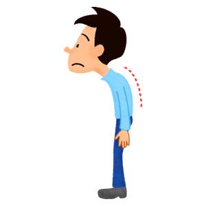 Bad posture clipart