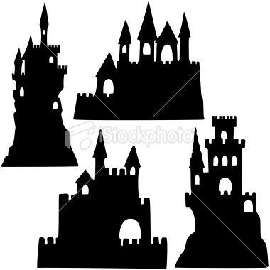Bad sand castle clipart black and white image free stock Sand Castle Silhouettes | beach party | Castle silhouette ... image free stock