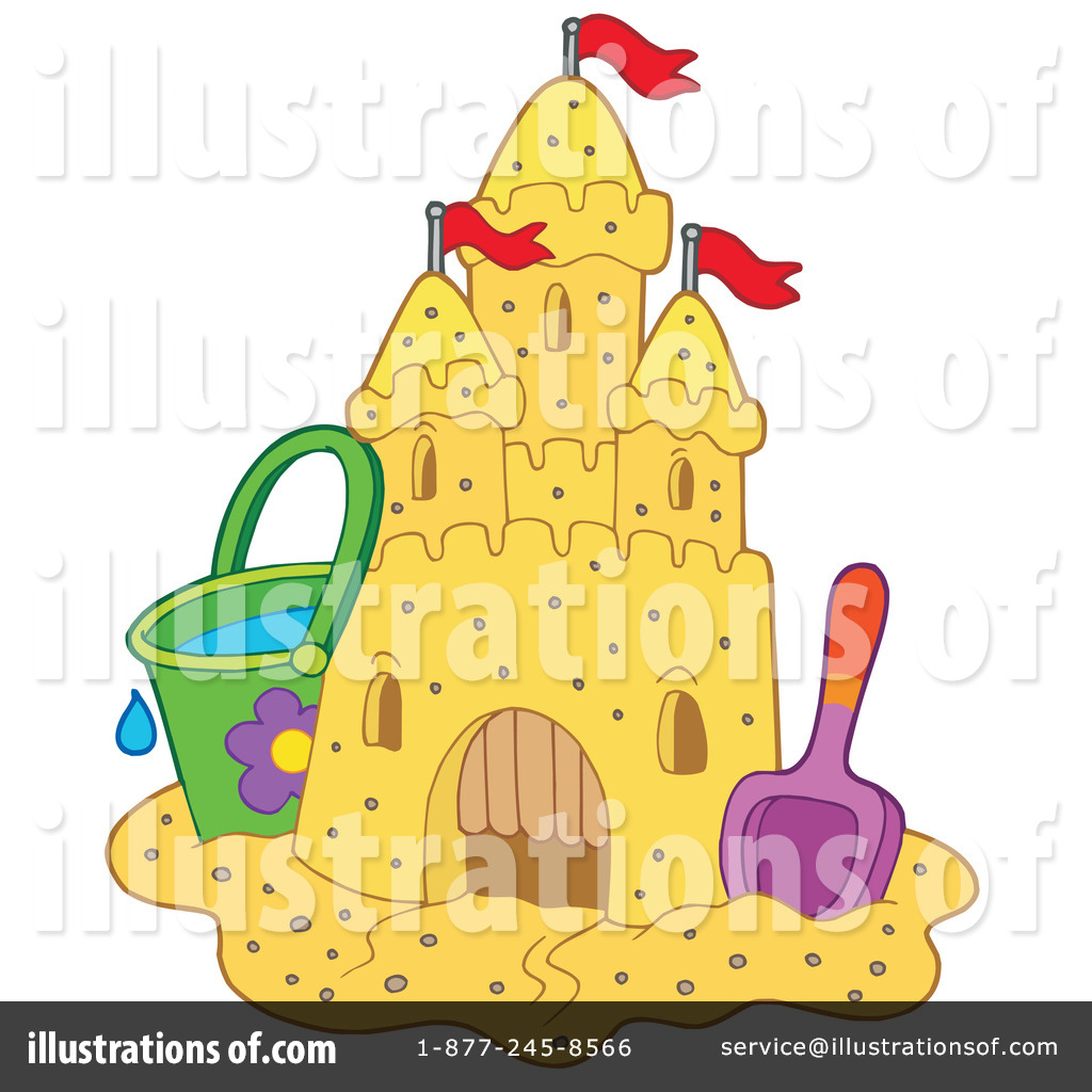 Bad sand castle clipart black and white royalty free Sand Castle Clipart #214257 - Illustration by visekart royalty free