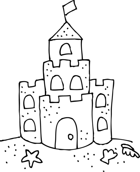 Bad sand castle clipart black and white image royalty free Sandcastle Sketch at PaintingValley.com | Explore collection of ... image royalty free