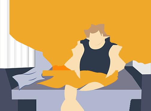 Bad sleep posture sleep and rest clipart