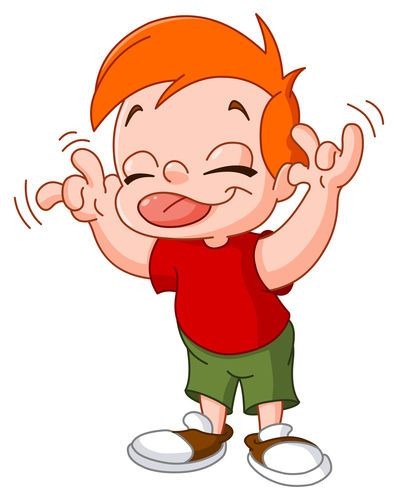 Well behaved kid clipart