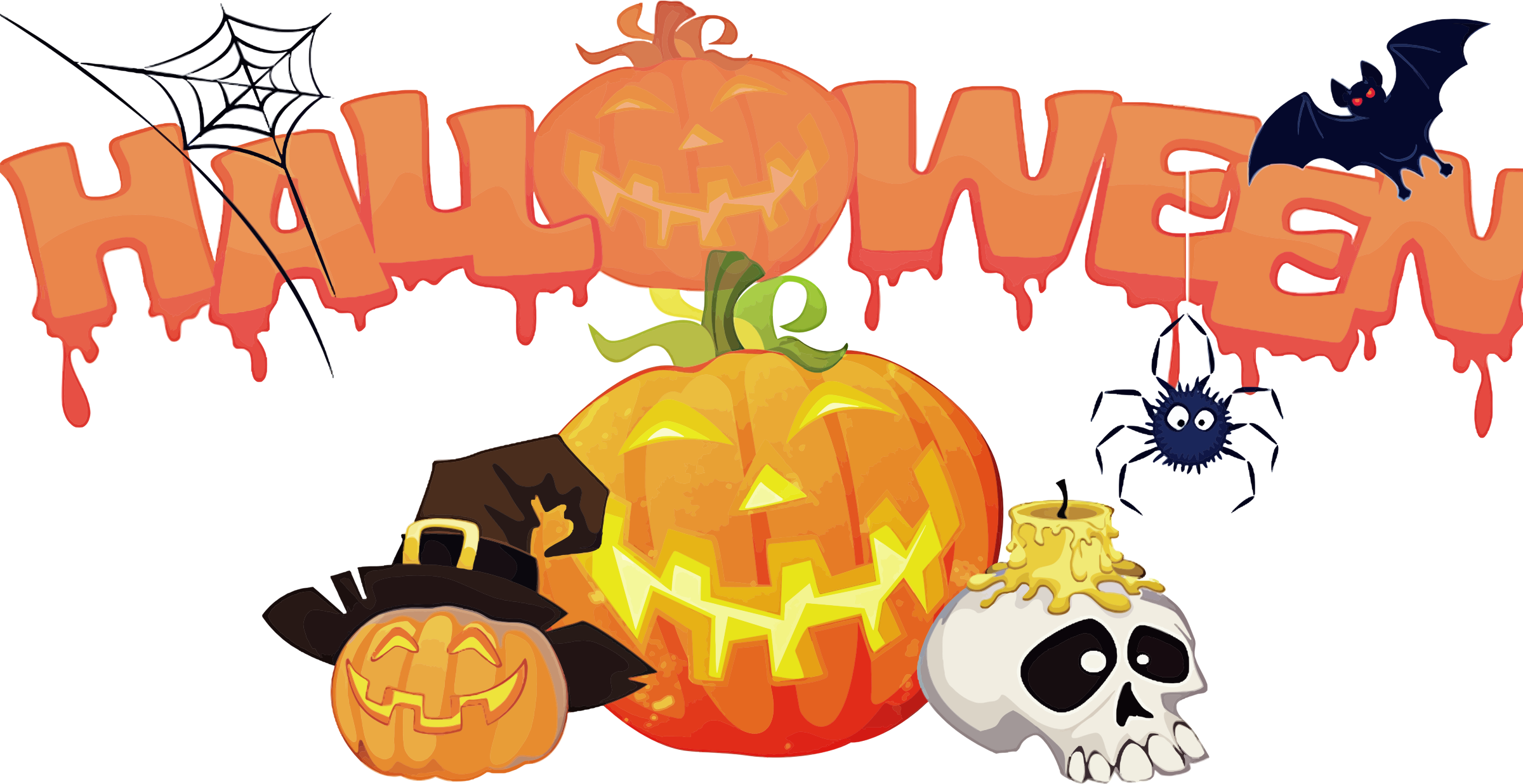 Kids halloween card transparent clipart