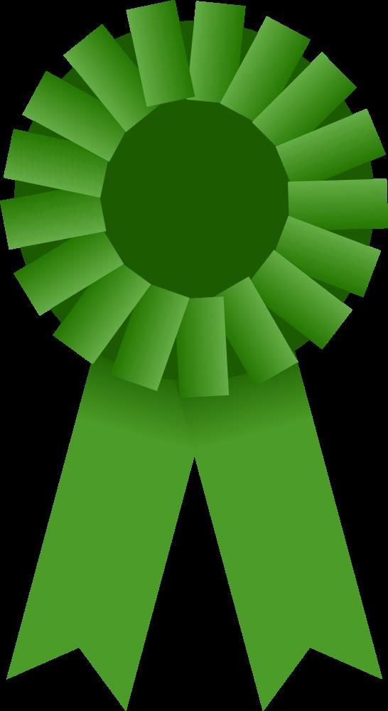 Badge award ribbon clipart svg clip royalty free OnlineLabels Clip Art - Award Ribbon -- Green clip royalty free