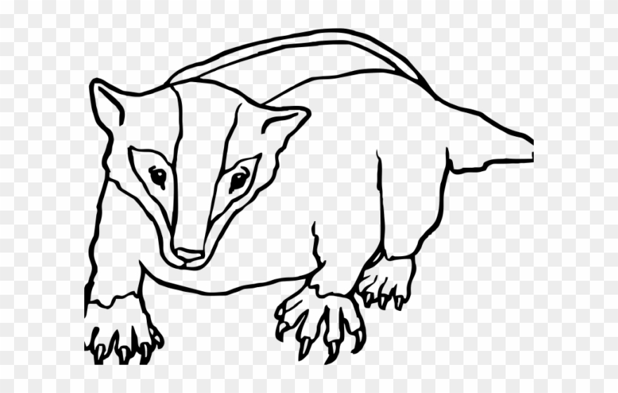 Badger clipart black and white png free stock Badger Clipart Black And White - Ecosystem Of A Badger Coloring Page ... png free stock