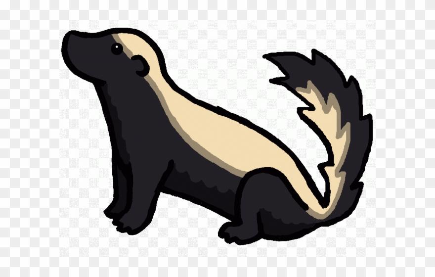 Clipart honey badger vector stock Clip Art Black And White Library Badger Clipart - Honey Badger ... vector stock