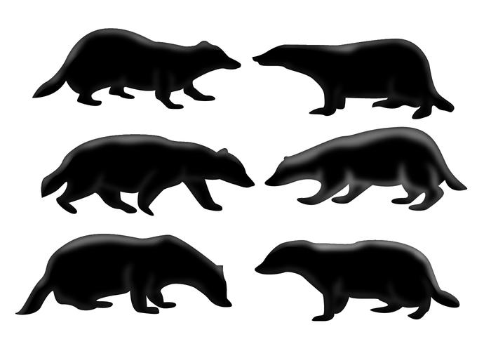 Badger in the honeycomb clipart vector freeuse download Honey Badger Silhouette Vector - Download Free Vector Art, Stock ... vector freeuse download