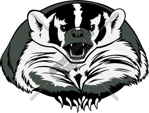 Badger mascot clipart clipart transparent stock BADGER02 Clipart and Vectorart: Sports Mascots - Badgers Mascot ... clipart transparent stock