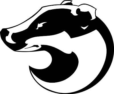 Badger clipart black and white png freeuse download Mascots - Badgers Clip Art | My Honey Badger | Badger illustration ... png freeuse download