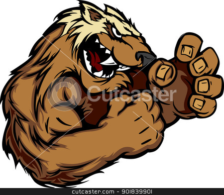 Badger mascot clipart vector stock Graphic Vector Image of a Wolverine or Badger Mascot with Fighting ... vector stock