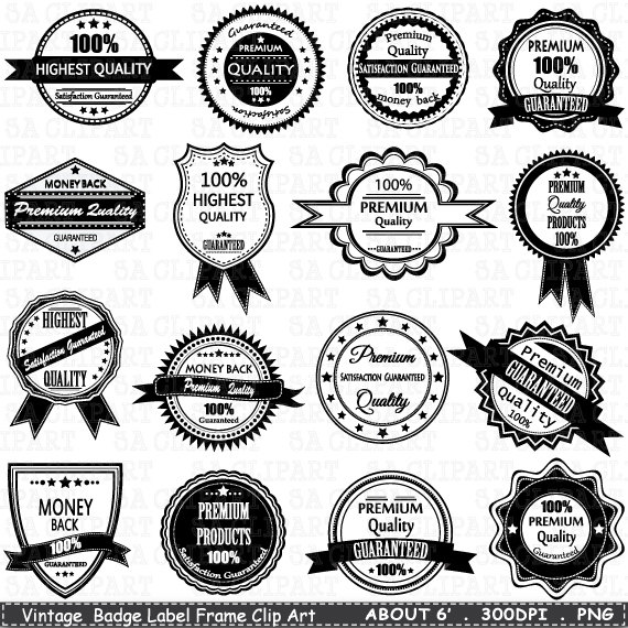 Badges and labels clipart png transparent stock Vintage Badge Label Frame ClipArt \