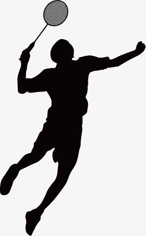 Badminton clipart vector free download svg transparent download Badminton Silhouettes, Sketch, Physical, Movement PNG and Vector ... svg transparent download