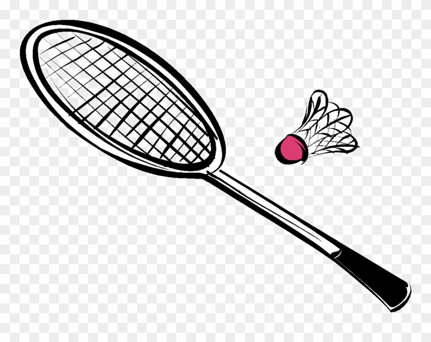 Badmiton clipart vector freeuse Collection Of Equipments Drawing High Quality - Badminton Racket ... vector freeuse