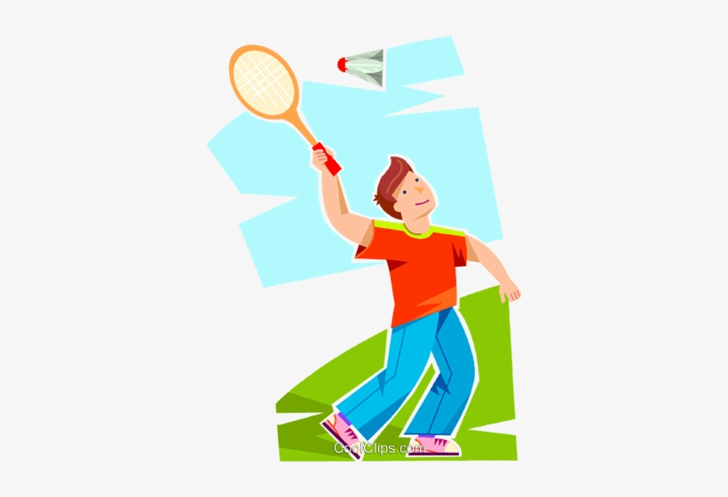 Badminton vector clipart picture freeuse Boy Playing Badminton Royalty Free Vector Clip Art - Badminton Cute ... picture freeuse