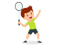 Badmiton clipart vector freeuse Sports Clipart - Free Badminton Clipart to Download vector freeuse