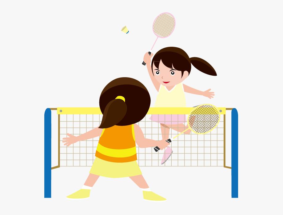 Play badminton clipart vector free download Kids Playing Badminton Clipart - Playing Badminton Clip Art #87702 ... vector free download