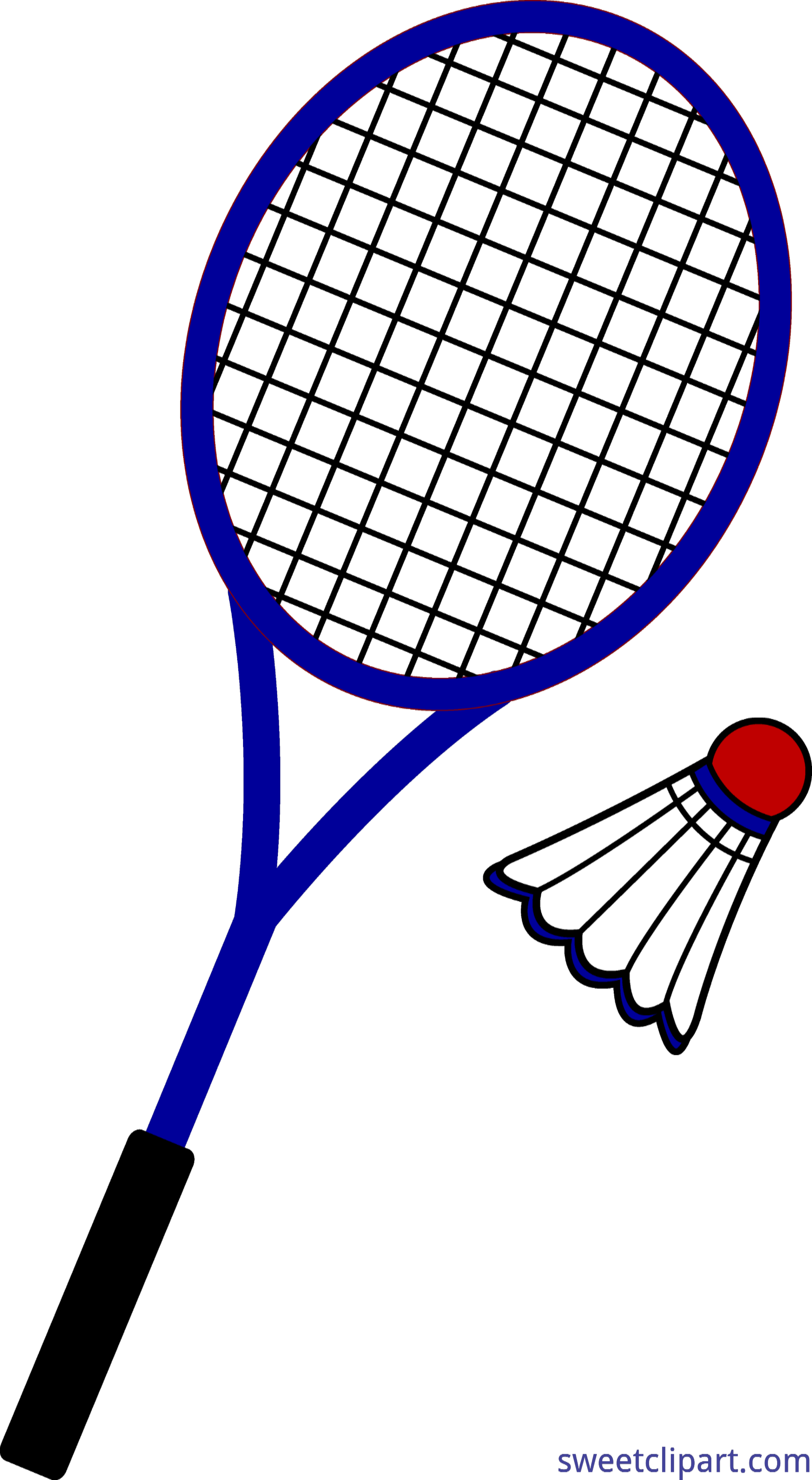 Badmiton clipart black and white stock Badminton Clip Art - Sweet Clip Art black and white stock